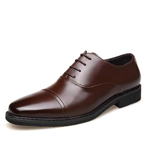 En Pour Quotidiens Banquet Hommes Cuir Bottes Cravate Brown De Chaussures Travail Flysxp Joints Basses Trois À zwvOztxgq