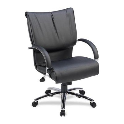 Lorell Mid-Back Dacron-Filled Cushion Management Chair 69515