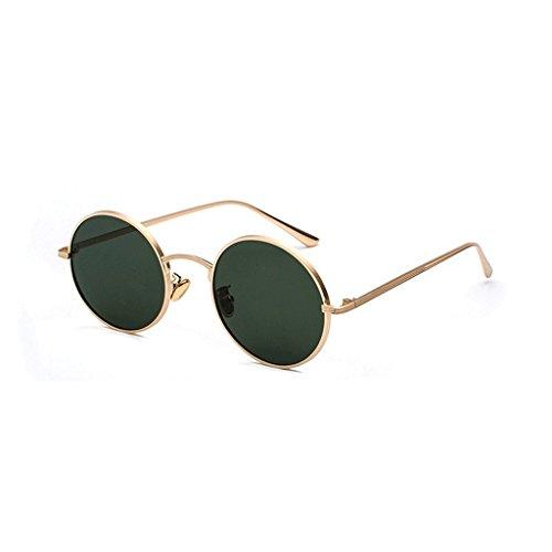 metálico del la de UV400 Sol Gafas Sol de de HUACANG de Lennon bisagra Vendimia la Gafas Gafas de de Marco polarizadas la Retros Las de Green de Sol Gold Primavera Fashion Unisex Gafas Sol Hippie Redondas USEqPzEw