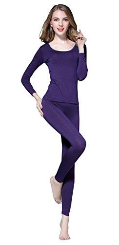 Vinconie Thermal Union Suit Long Sleeve Scoop Neck Blouse Gym Yoga (Scoop Union)