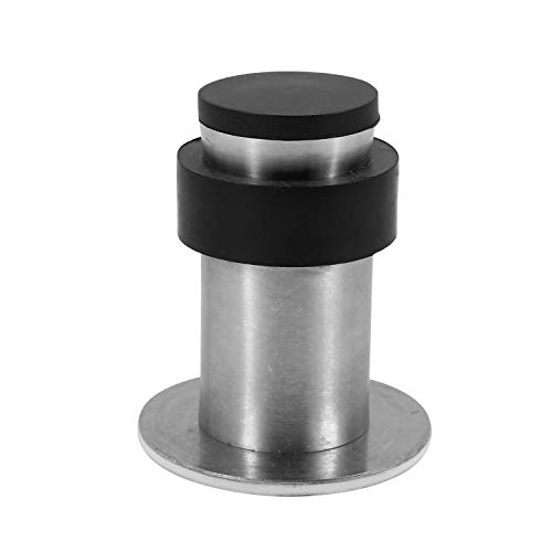 YuHorse Brushed Stainless Steel Cylindrical Floor Mount Rubber Head Door Stop 2-9/16