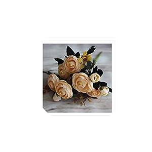 6 Branches Artificial Flower Fake Vivid 6 Head Autumn Home Room Bridal Hydrangea Decor,2 48
