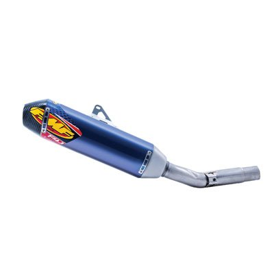 FMF 17-18 Kawasaki KX250F Factory 4.1 RCT Slip-On Exhaust (Anodized Blue Titanium with Titanium Mid Pipe and Carbon End Cap)