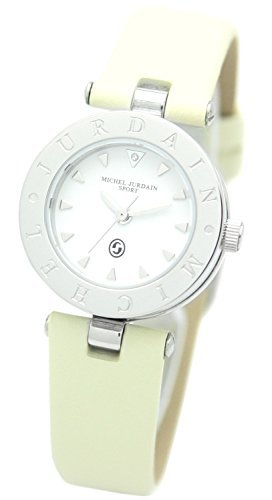 [Michel Jordan] michel Jurdain watch sports natural diamond containing zero one round face leather Ivory MJ-1500-3 Ladies by michel Jurdain (Michel Jordan)