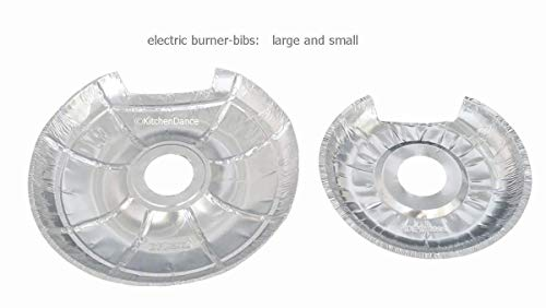 Durable Disposable Electric Burner Bibs- Pack of 50- 25 Large-25 Small by Durable Packaging (Image #1)