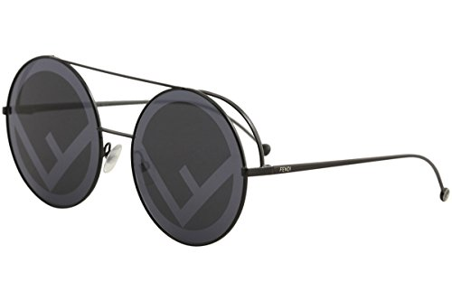 Fendi FF0285/S 807 Black FF0285/S Round Sunglasses Lens Category 3 Lens - Fendi Round Sunglasses
