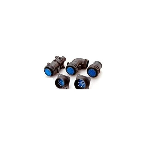 AU60063 【5個入】 丸型 MSコネクタ ウォールレセプタクル/ストレートバックシェル付 D/MS3100A(D190)-BSSシリーズ 防水防滴タイプ B00O0RB0BW