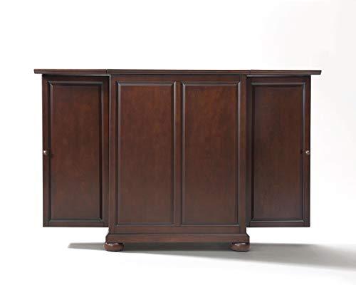 Crosley Furniture Alexandria Expandable Top Bar Cabinet, Vintage Mahogany from Crosley Furniture