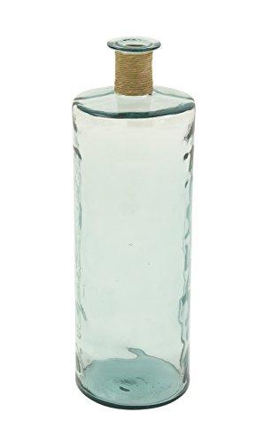 Deco 79 18224 Glass Vase with Raffia, 10'' x 30'' by Deco 79