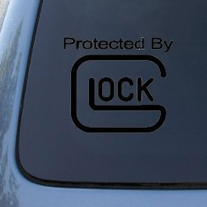 Amazon Com Protected By Glock 4 Quot Black Decal Guns