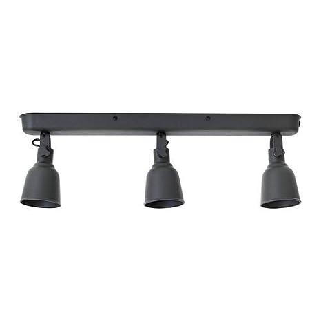 Ikea hectárea riel de techo con 3 focos; en oscuro; A + +: ...