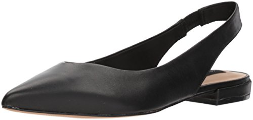 (STEVEN by Steve Madden Women's Lourdes Mary Jane Flat, Black Leather, 8 M US)