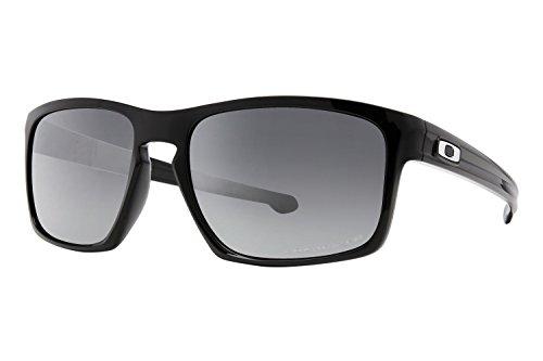 Oakley Men's Sliver OO9262-09 Polarized Iridium Rectangular Sunglasses, Polished Black, 57 - Trends Sunglasses 2015