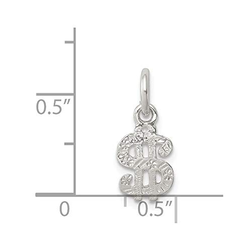 Sterling Silver Sign Charm a 0.90mm Box +