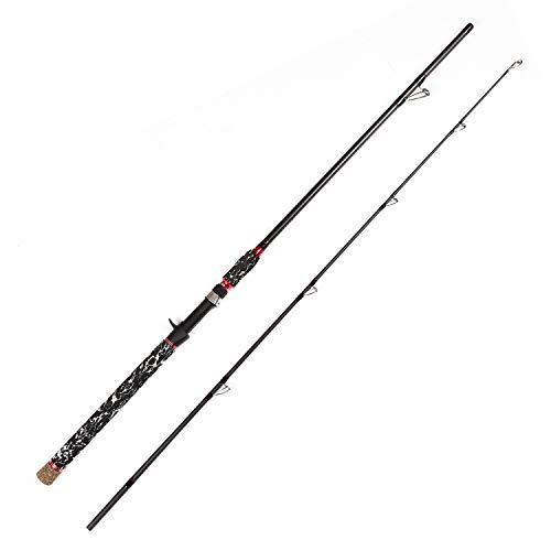 LurEra Catfish Casting Rod 30 Ton High-Density Carbon 2 Pieces Portable 7' Heavy Action Catfishing Baicasting Rod Inshore Freshwater Fishing Pole