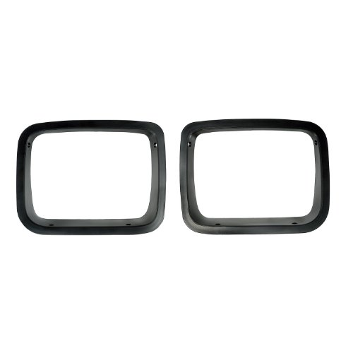 Jeep Headlight Bezel - Rugged Ridge 12419.24 Black Headlight Bezel - Pair