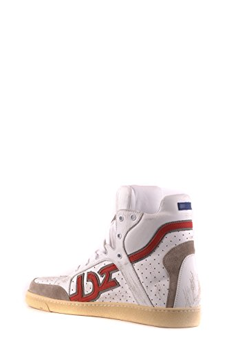 DSQUARED2 Herren Mcbi107218o Weiss Leder Hi Top Sneakers