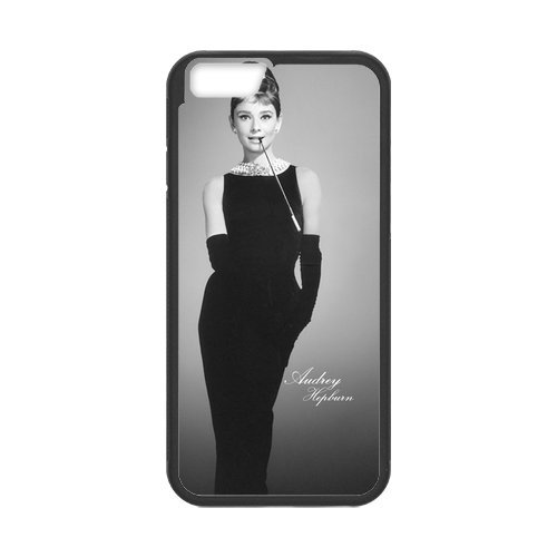"Fayruz - iPhone 6 Rubber Cases, Audrey Hepburn Hard Phone Cover for iPhone 6 4.7"" F-i5G251"