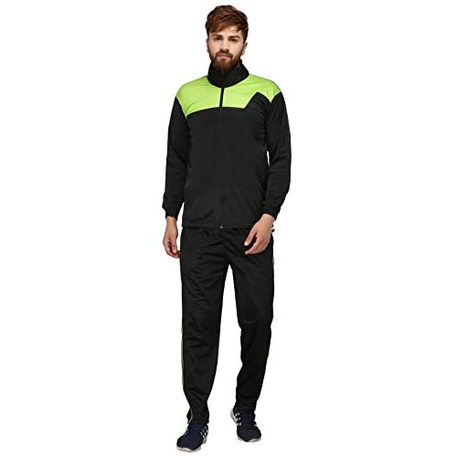 31nbwLdQkaL. SS500  - Fashion7 Men's Polyester Tracksuit - Black Tracksuit for Men Sports