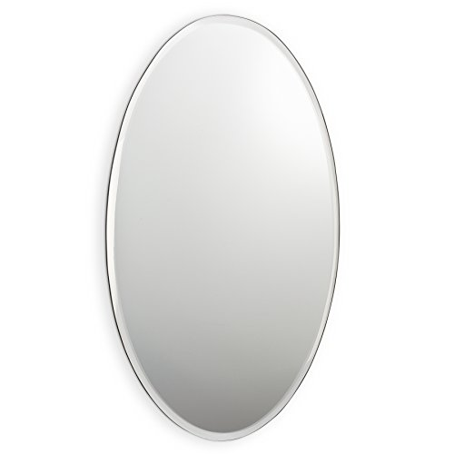 Abbott Collection Parlour Oval Beveled Mirror, Large