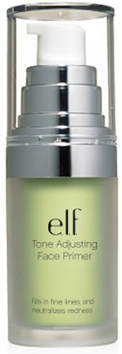 e.l.f. Studio Mineral Infused Face Primer, Tone Adjusting Green, 0.47 Ounce (Green Face Makeup)