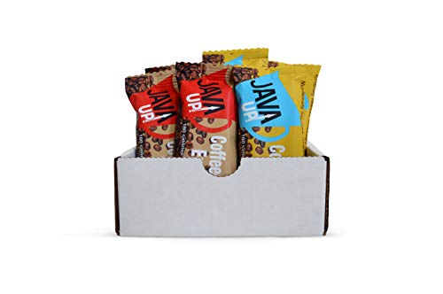 JavaUp Sample 6-Pack (6 x 1.4 oz bars) Two bars of each flavor: Cafe Mocha, Caramel Macchiato, Vanilla Latte | All Natural | Organic Coffee | Kosher