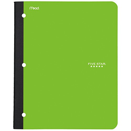 - Five Star Bound Notebook with Pocket, 1 Subject, College Ruled Paper, 80 Sheets, 11