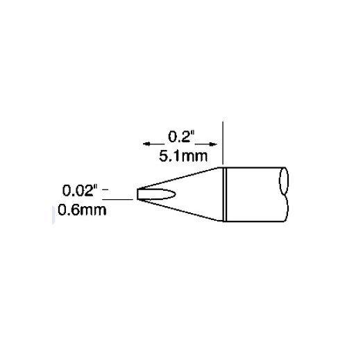 Metcal UFTC-7CH06-PK CHISEL TIP .24 X .2 METCAL