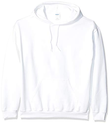 Gildan Men's Heavy Blend Fleece Hooded Sweatshirt G18500, White, 3X-Large ()