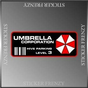 (Resident Evil Umbrella Corp. Parking Decal Vinyl Decal Bumper Sticker 2