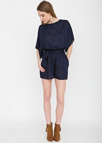 Kurzer Overall im Kimono-Stil, marineblau