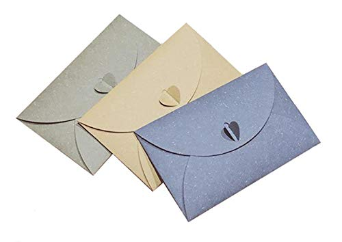 Fold Letter Envelope - 12PCS Retro Style Pure Color Half-Fold Envelopes Gift Card Love Letter Envelopes for Invitation Card Photos Weddings Birthdays Baby Shower Graduation Parties Color Random (Without Letter Paper)