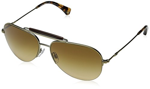 Emporio Armani Sunglasses EA2020 3002 2L Matte Gold Yellow Gradient Brown - Armani Sunglasses 2014