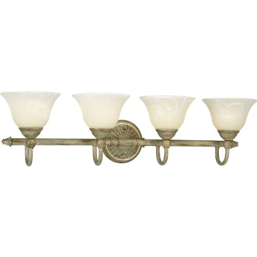 Savannah Four Light Bath - Progress Lighting P3207-42 4-Light Savannah Bath Bar, Seabrook