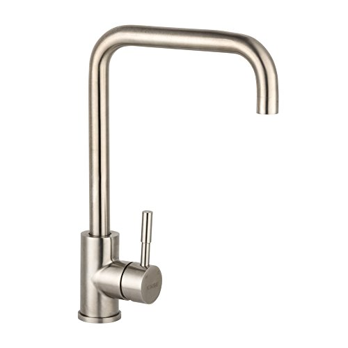 Lever High Neck (Kitchen Faucets, LiFu 360 Degree Swivel Stainless Steel High Arc Single Handle Kitchen Sink Faucet)