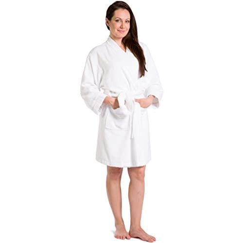 Top Fishers Finery Women's EcoFabric Terry Bathrobe; Kimono Style; Front Pockets for sale