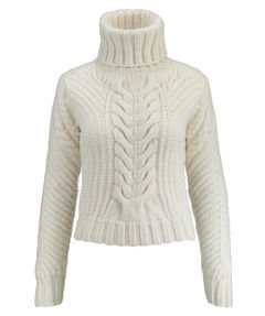 78899dc7 Gigi Hadid Chunky Cable Women's Roll Neck Pullover Roll - white - 8 ...