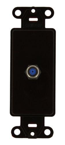 - Leviton 40681-B F Connector Decora Insert, Brown