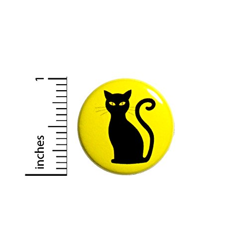 Cute Geeky Costumes (Black Cat Button Halloween Spooky Cute Fun Party Favor Backpack Pin 1