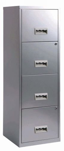 Maxi casier 4 tiroirs pour dossiers suspendus coloris aluminium