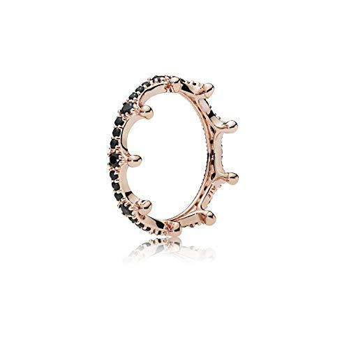 - Pandora Rose Enchanted Crown Ring Size 8.5 With Black Crystal 187087NCK-58