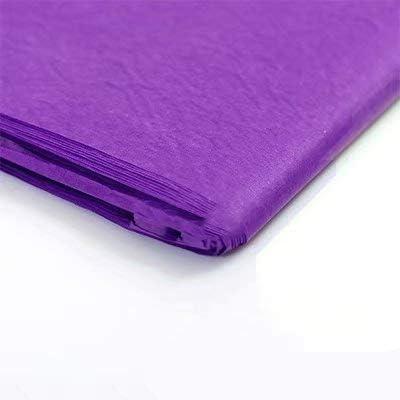 """Liroyal ラッピングペーパーシート 10 x ピュアカラーティッシュペーパー ギフトラップ (20""""x 30"""") 10Pc Purple"""