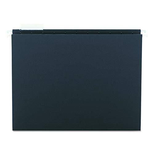 (Smead Hanging File Folder with Tab, 1/5-Cut Adjustable Tab, Letter Size, Black, 25 per Box (64062) (Renewed))