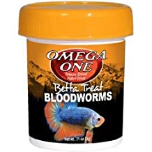 Omega One Betta Treat Bloodworms Freeze Dried Nutri-Treat