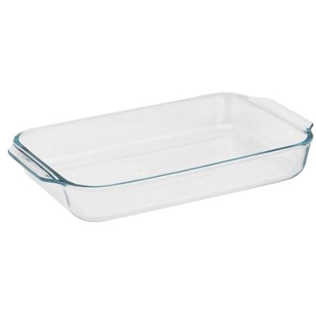 (Pyrex Basics 2 Quart Glass Oblong Baking Dish, Clear 11.1 in. x 7.1 in. x 1.7 in.)