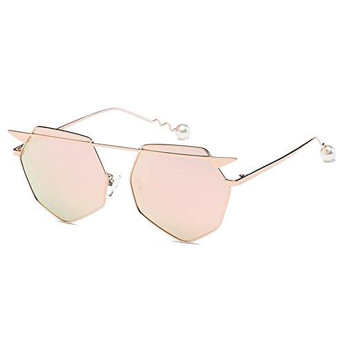 4 Metal 2 Gafas la ZHANGYUSEN de Tendencias Gafas Calle de Lrregularity Diamante Sol Reflectante Mujeres Sungalsses Hombre w66U1qtpa