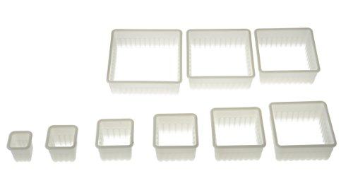 Silikomart Wonder Cakes Collection Square Nesting Fluted Nylon Dough Cutters, Set of -