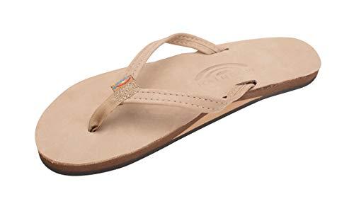 Rainbow Sandals Womens Single Layer Premier Leather Narrow Strap