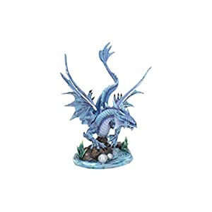 Adult Water Dragon Anne Stokes 31cm Figurine, Resin, Blue, One Size