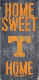 Tennessee Volunteers Wood Sign - Home Sweet Home 6x12 by Fan Creations